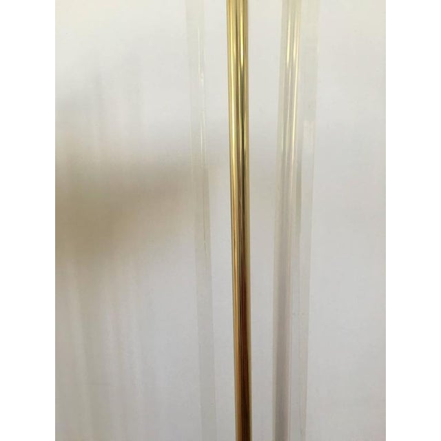 Pierre Cardin Style Brass and Lucite Floor Lamp For Sale In Washington DC - Image 6 of 7