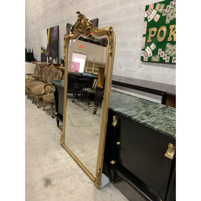 French Louis XV Giltwood Mirrors With Facetted Glass C.1900s For Sale In Miami - Image 6 of 13