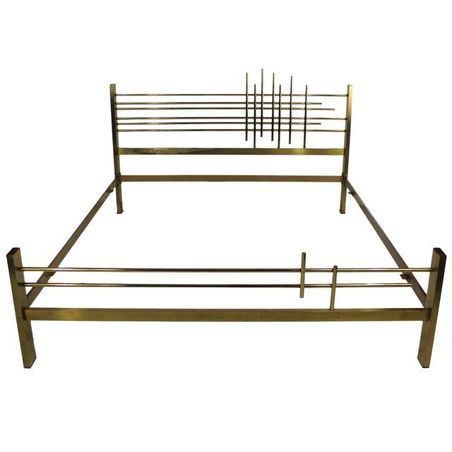 An Italian 60's Modernist Double Bed For Sale