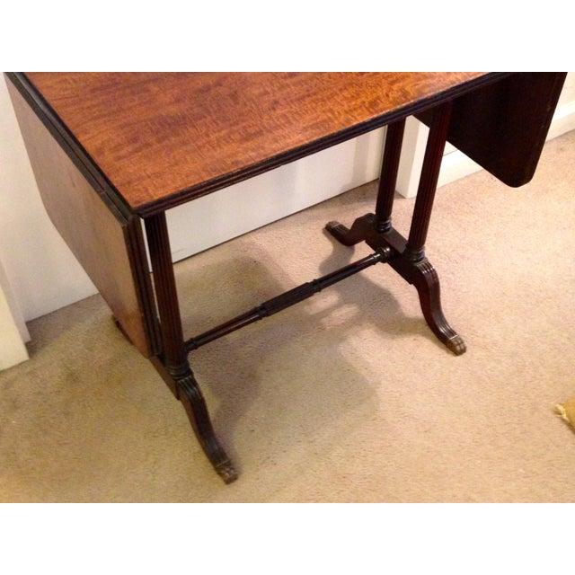 Vintage John Wanamaker NY Regency Style Burl Walnut Coffee Table For Sale - Image 4 of 8