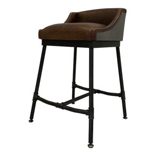 Modern Iron Scaffold Counter Stool For Sale