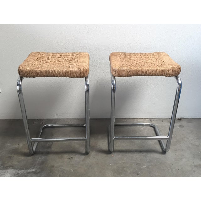 Vintage 1970's Chrome Stools - A Pair - Image 2 of 7