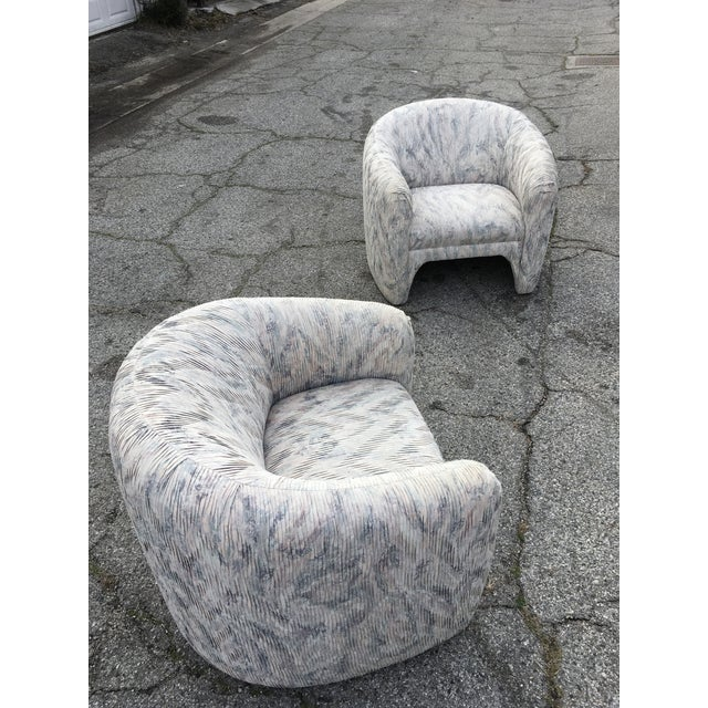 1980s Vintage Sculptural Steve Chase Lounge Chairs- A Pair For Sale - Image 11 of 13