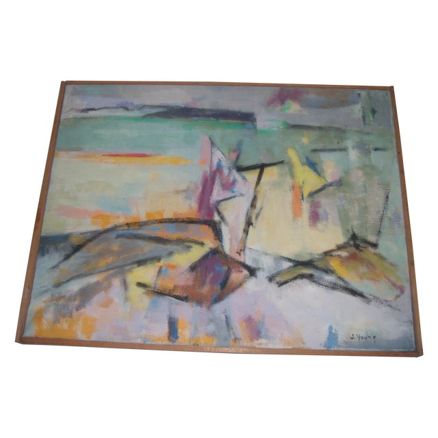 Signed 1961 Jean Young Abstract Painting - Image 1 of 11