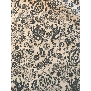 Rosa Bernal Fabric - 1 3/8 Yards For Sale