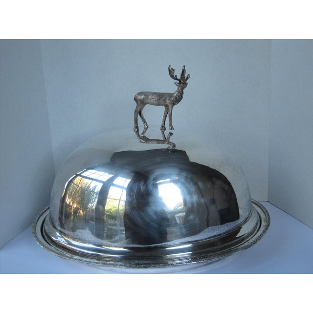 """Silver-plate meat serving set, tray and dome. Tray measures 19""""L x 15.50""""W x 2""""H. Tray 17.5""""L x 14""""W x 15""""H. This would..."""