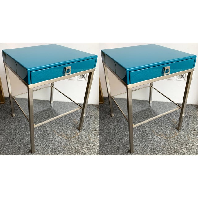 Pair of Lacquered Side Tables by Guy Lefevre for Maison Jansen. France, 1970s For Sale - Image 13 of 13