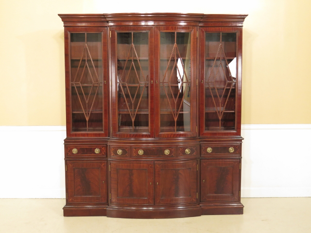 Councill Large Mahogany Breakfront China Cabinet For Sale   Image 13 Of 13