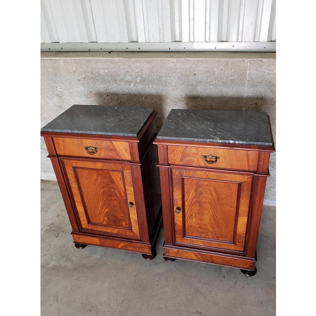 19th Century French Crotch & Burl Mahogany Confiture Cabin For Sale - Image 9 of 12