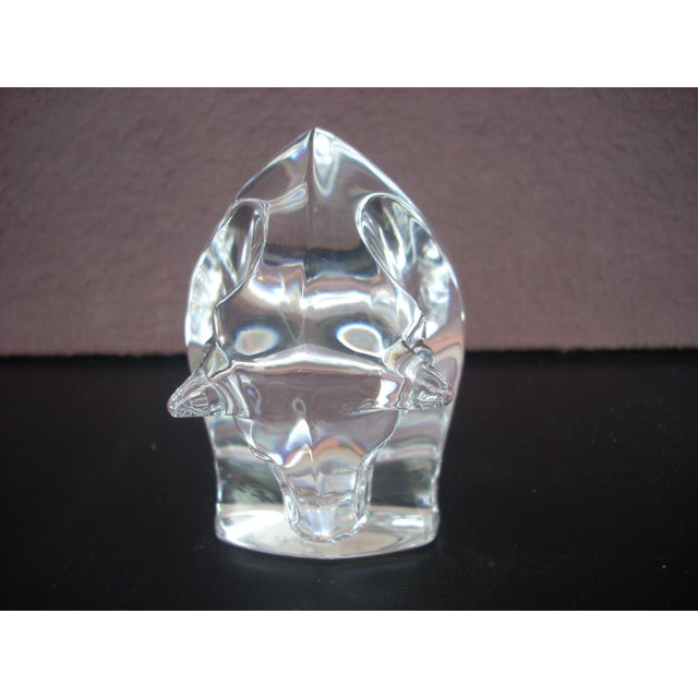Waterford Clear Crystal Bull - Image 3 of 5