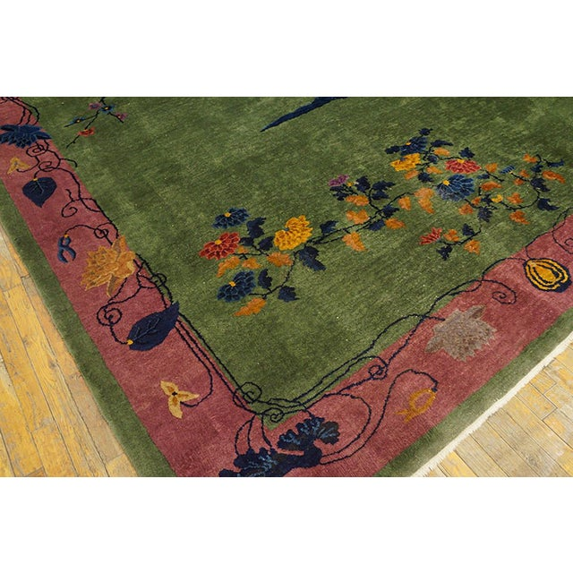 Art Deco Antique Chinese Art Deco Rug- 8′ × 9′6″ For Sale - Image 3 of 5