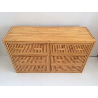1980s Boho Chic Rattan Double Dresser Preview