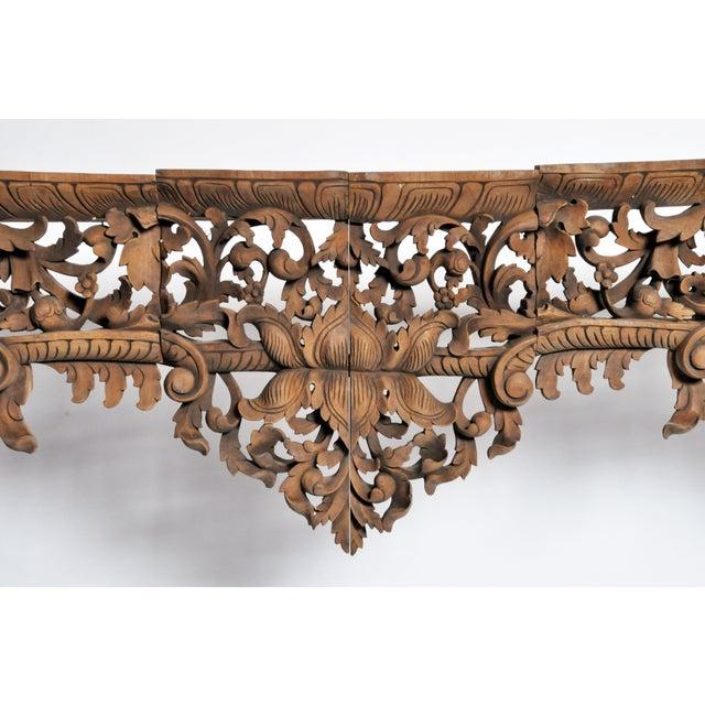 Vintage Burmese Hand-Carved Arch For Sale - Image 10 of 13