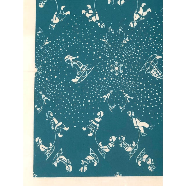 Folly Cove Designers Snow Flurry Hand Block Print For Sale - Image 9 of 10