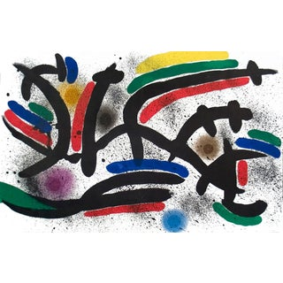 Joan Miro, Lithograph I, Number Ix, Lithograph, 1972 For Sale