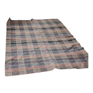 Vintage European Carpet Area Rag Rug -4′4″ × 6′5″ For Sale