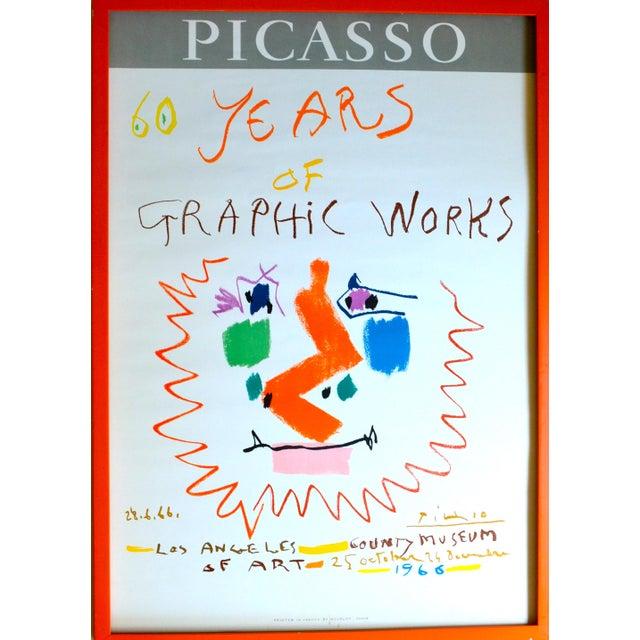 1966 Pablo Picasso Exhibition Poster - Mourlot Lithograph For Sale