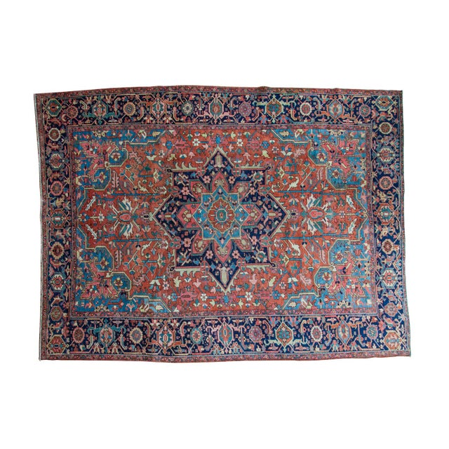"Vintage Heriz Carpet - 9' X 11'8"" - Image 1 of 10"