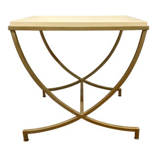 Bernhardt Dunhaven White Stone Top End Table For Sale