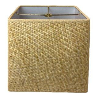 Herringbone Tapered Square Lamp Shade For Sale