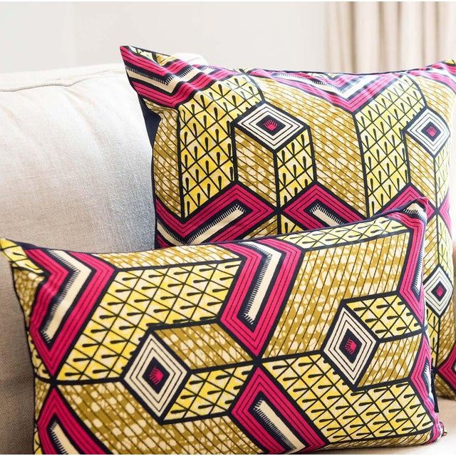 Lubumbashi Wax Print Square Pillow - Image 4 of 4
