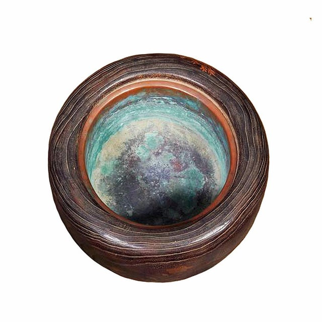Brown Late 19th Century Wood and Copper Braziers / Hibachis For Sale - Image 8 of 9