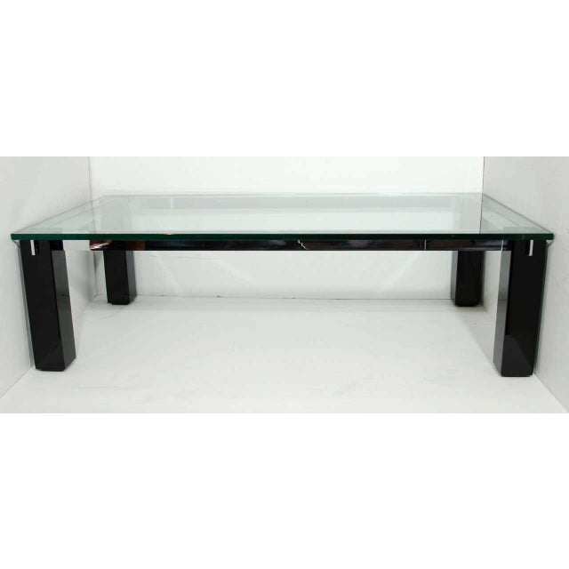 1970s Crespi Italian Mid-Century Modern Architectural Coffee Table For Sale - Image 5 of 11