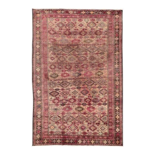Pink Vintage Persian Baluch Rug with Modern Tribal Style For Sale