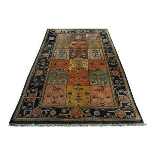 1980s Pictorial Shirvan Caucasian Handmade Wool Rug - 5′4″ × 8′5″ For Sale