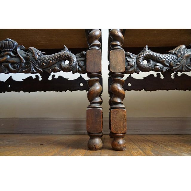 Pair 19th Century Jacobean End Tables - Image 4 of 10