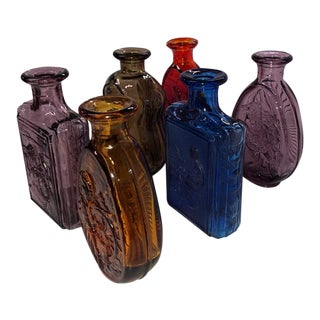 Dar Daughters of the American Revolution Glass Bottles - Set of 6 For Sale