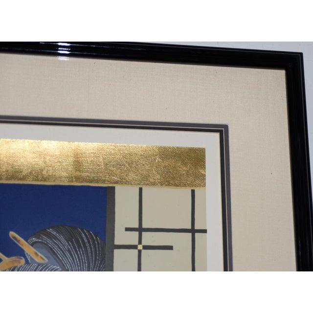 "Printmaking Materials Morita Haruyo (B. 1945, 森田 春代) ""Natsu N Yo"" Japanese Serigraph C.1980s For Sale - Image 7 of 11"