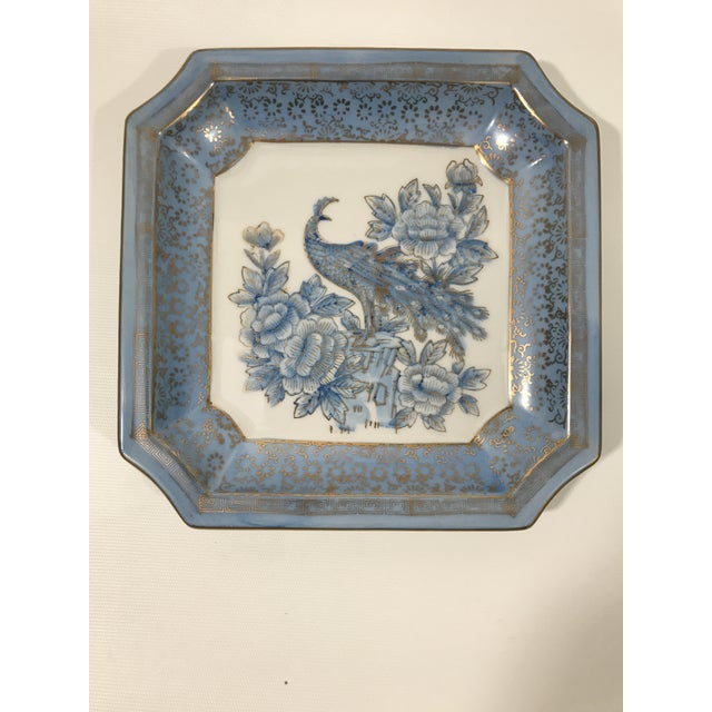 Square Blue Porcelain Chinoiserie Dish For Sale In Charlotte - Image 6 of 6