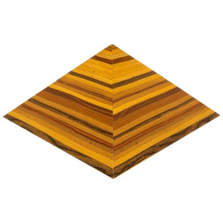 Egyptian Revival Specimen Woods Pyramid Box For Sale