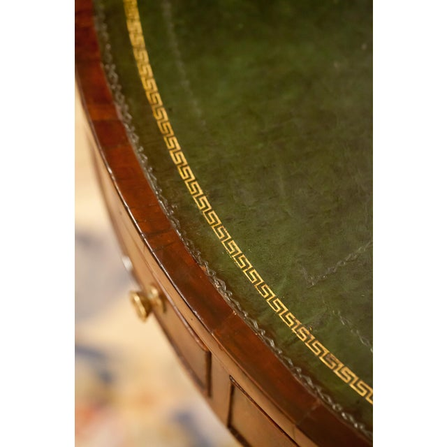Green Regency Drum/Rent Table, England Circa 1815 For Sale - Image 8 of 13