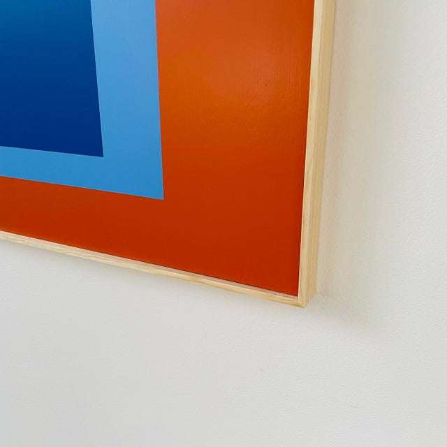 Bauhaus Contemporary Minimalist Painting, Framed For Sale - Image 3 of 4