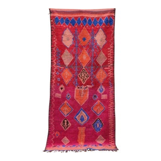 """Moroccan Berber Rug - 5'2"""" X 11'7"""" For Sale"""