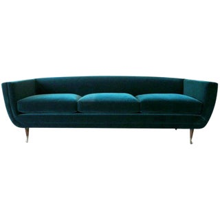 Custom Upholstered Carlo Velvet Sofa from William Collins Collection