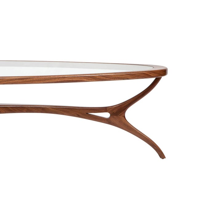 M/n custom sculptural hand made solid mahoghany coffee table after a 1960's Brazilian Design. Custom orders have a lead...