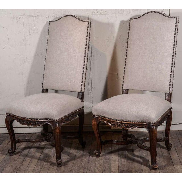 Pair of 19th Century Régence Style Side Chairs in Oak - Image 10 of 10