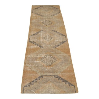 """1960's Vintage Turkish Hand-Knotted Hallway Runner-3'1"""" X 10' For Sale"""