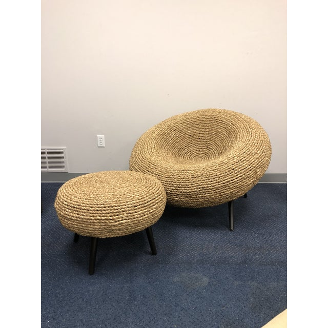 Transitional Palecek Paxton Chair & Ottoman Chair For Sale - Image 3 of 5