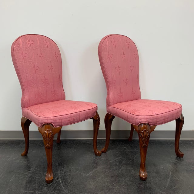 1980s John Widdicomb Queen Anne Style Dining Parsons Side Chairs - Set of 4 For Sale - Image 5 of 12