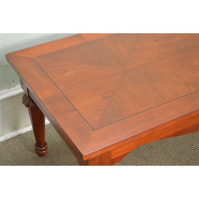 Lexington Cherry Wood Regency Style Rectangular Coffee Table - Image 5 of 10