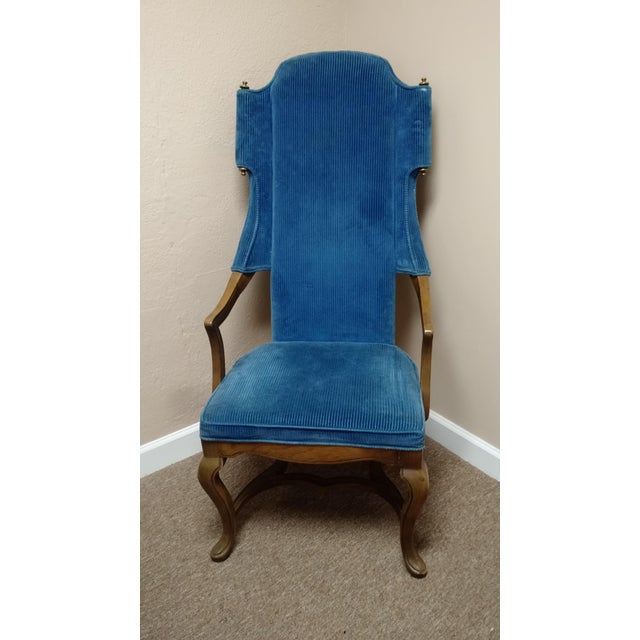 Jim Peed Esperanto Drexel Wingback Chair - Image 9 of 9