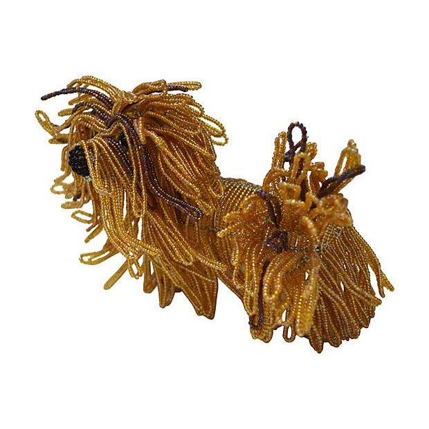 Glass Beaded Lhasa Apso Dog Sculpture - Image 4 of 4
