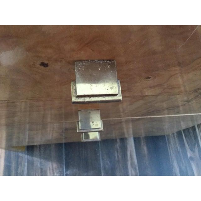 Italian Burl Wood Desk For Sale - Image 10 of 11