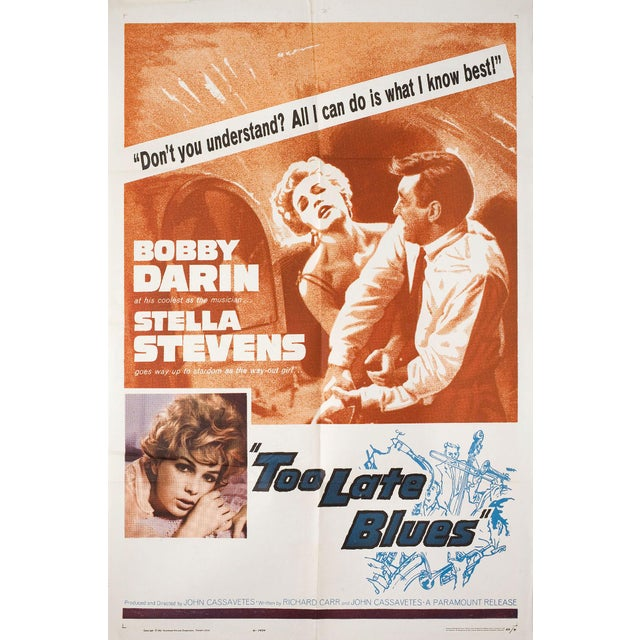 John Cassavetes' Too Late Blues 1962 Original Movie Poster - Image 2 of 2