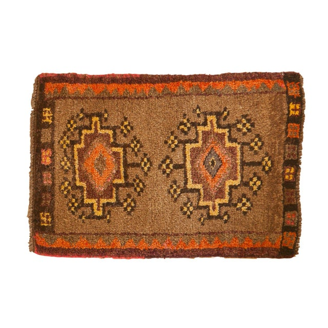 """Vintage Oushak Rug Mat - 1'7"""" X 2'3"""" For Sale In New York - Image 6 of 6"""