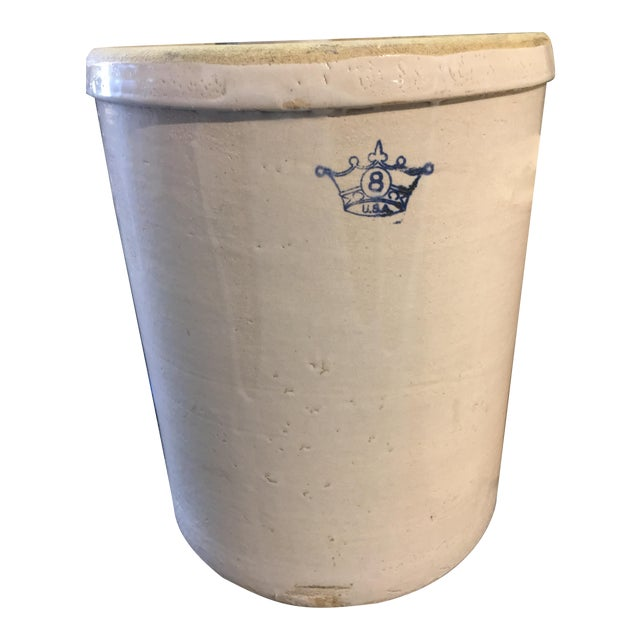 Vintage 8 Gallon Robinson Stoneware Crock For Sale